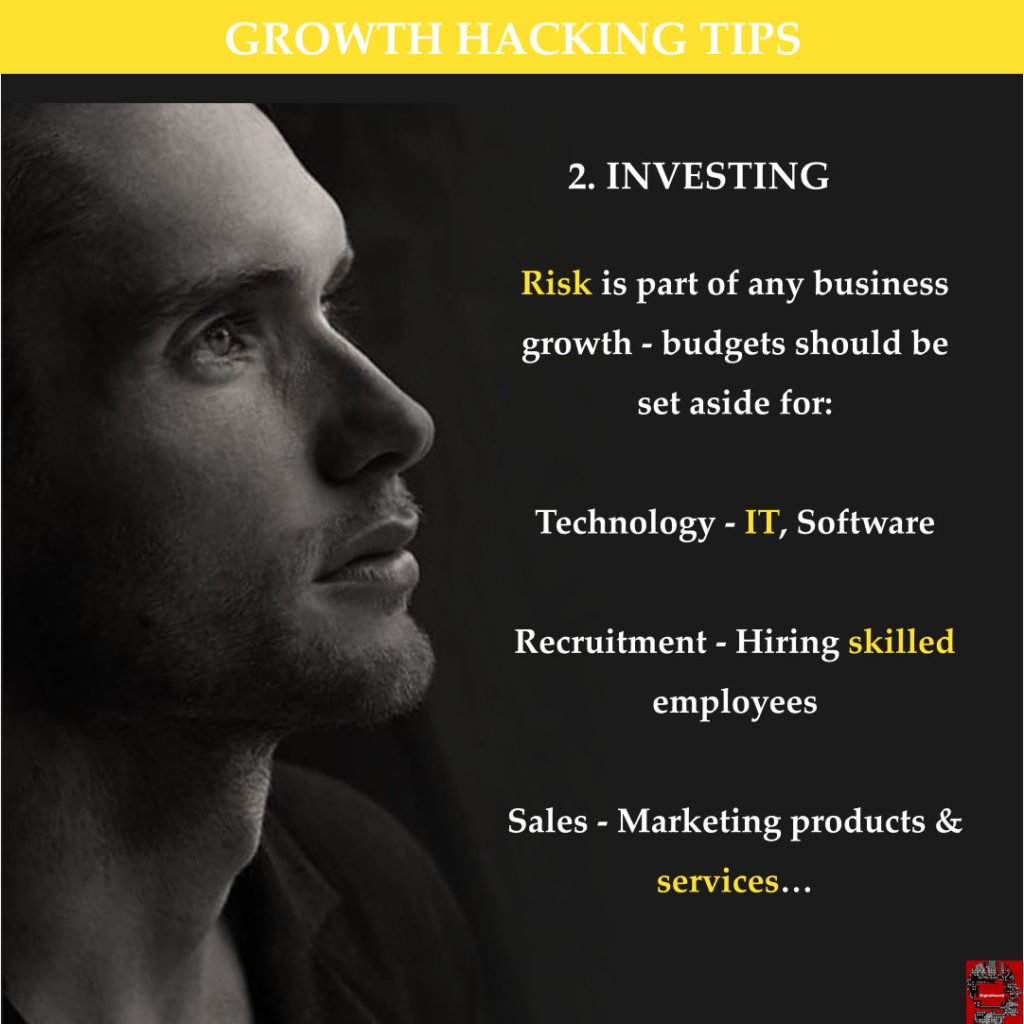 Growth Hacking Tips 2 - Investing