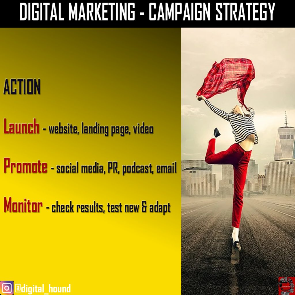Digital marketing campaign action
