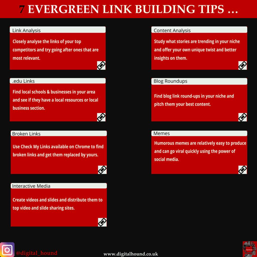 7 link building tips